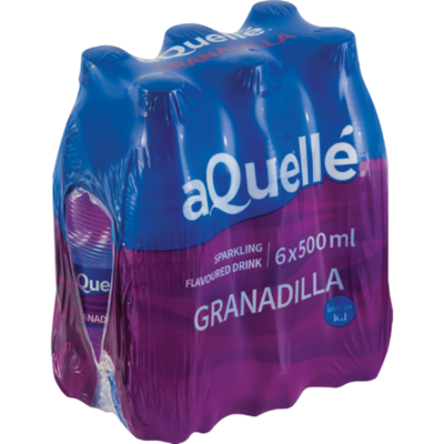Aquelle Flavoured Water Granadilla 6x500ml
