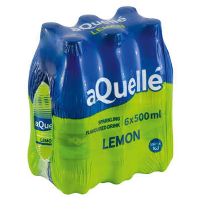 Aquelle Flavoured Water Lemon 6x500ml