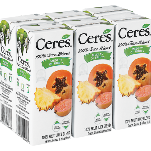 Ceres Juice Medley of Fruits 6x200ml