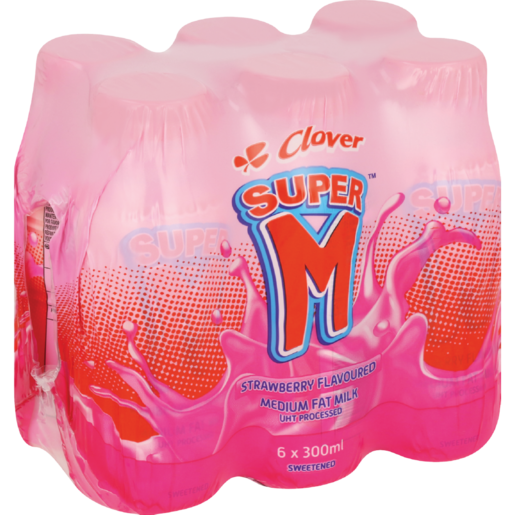 Clover Super M Strawberry 6x300ml