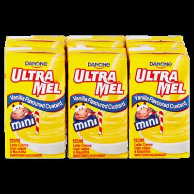 Danone Ultramel Custard Mini Vanilla 6x125ml