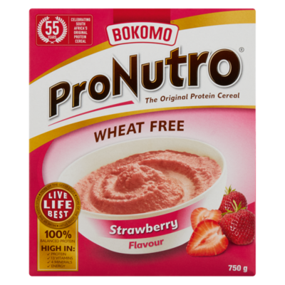 Bokomo ProNutro Strawberry Wheat Free 750g