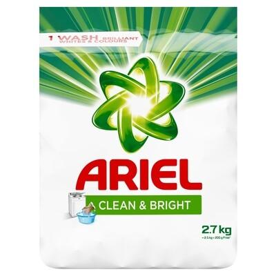 Ariel Clean & Bright Washing Powder Auto & Hand 2.7kg