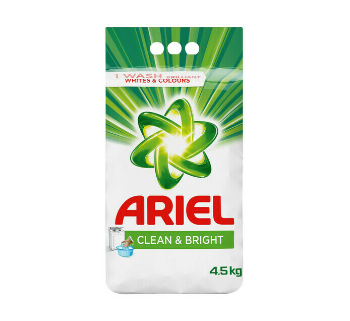 Ariel Clean & Bright Washing Powder Auto & Hand 4.5kg