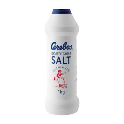 Cerebos Iodated Table Salt 1kg Shaker