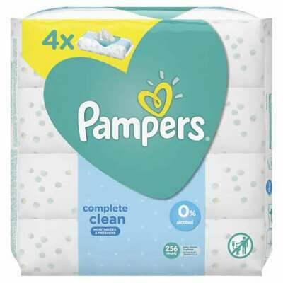 Pampers Complete Clean Baby Wipes 4x64