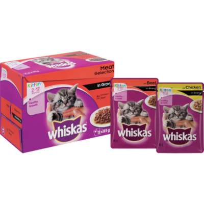 Whiskas Meat Selection In Gravy 12x85g