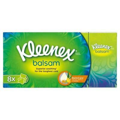 Kleenex Balsam Pocket Tissues 8 pack