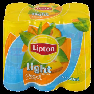 Lipton Ice Tea Peach Light 6x330ml