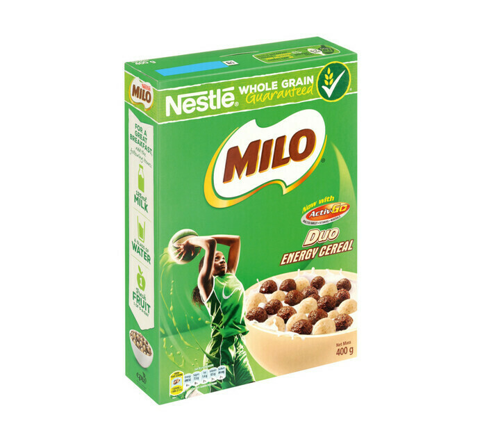 Nestle Milo Duo Energy Cereal 400g