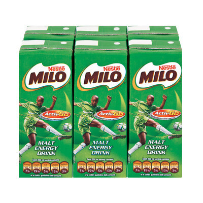 Nestle Milo Malt Energy Drink 6x200ml