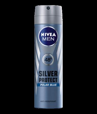 Nivea Antiperspirant Men Silver Protect Polar Blue 150ml