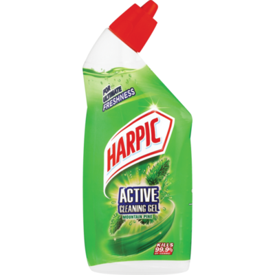 Harpic Active Cleaning Gel Mountain Pine 6x500ml