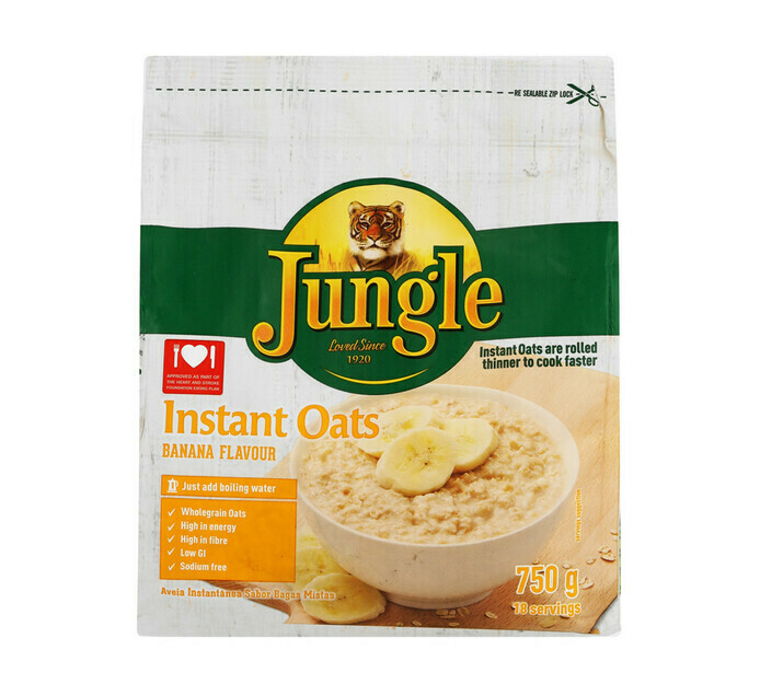 Jungle Instant Oats Banana 750g