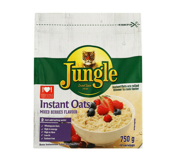 Jungle Instant Oats Mixed Berries 750g