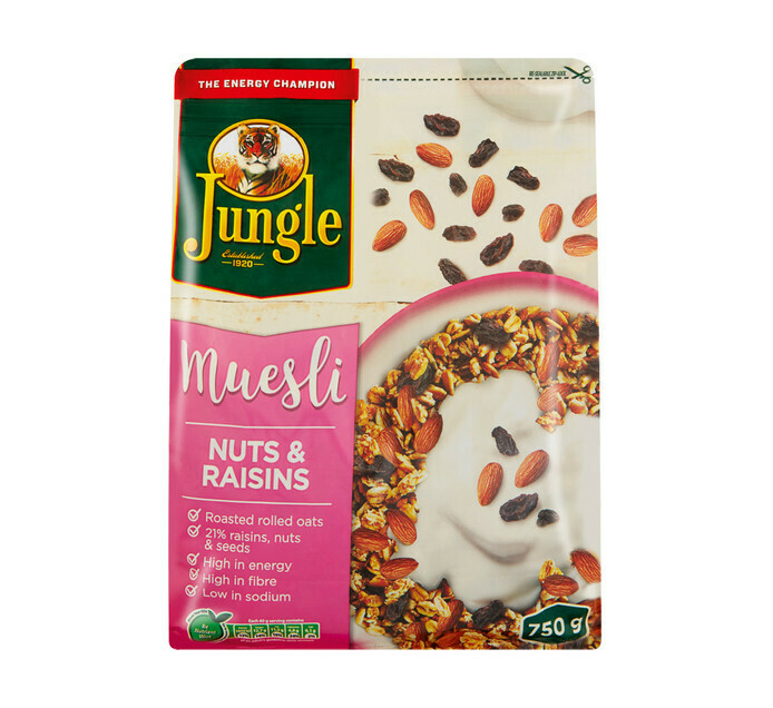 Jungle Muesli Nuts & Rasins 750g