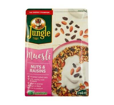 Jungle Muesli Nuts & Rasins 750g