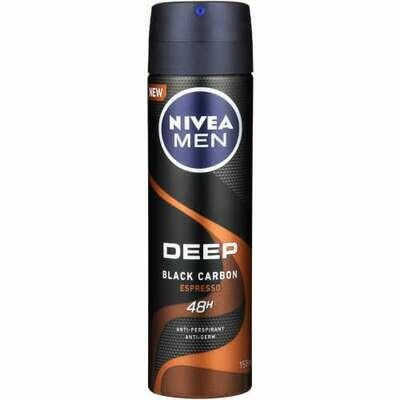 Nivea Antiperspirant Men Deep Black Carbon Espresso 150ml
