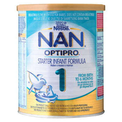 Nestle Nan Optipro 1 Starter Infant Formula  6x 400g
