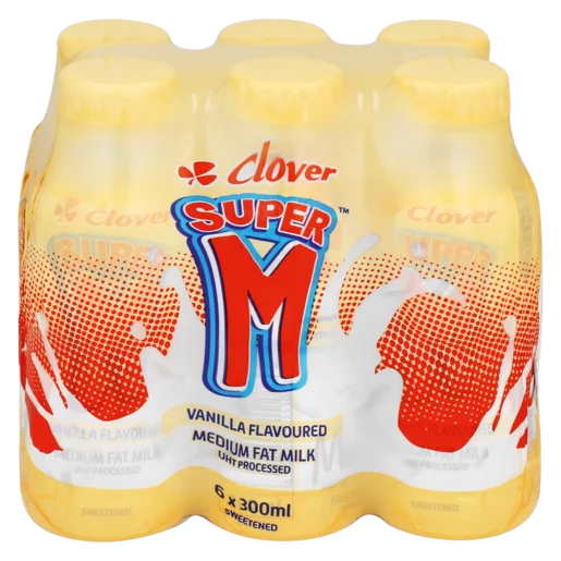 Clover Super M Vanilla 6x300ml