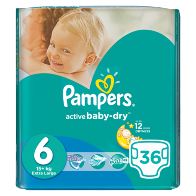 Pampers Active Baby Dry Size 6  Pack 40 Nappies