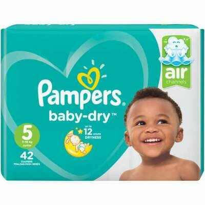 Pampers Baby Dry Size 5 Value Pack 42 Nappies