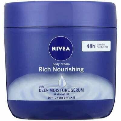 Nivea Body Cream Rich Nourishing Deep Moisture Serum & Almond Oil 400ml