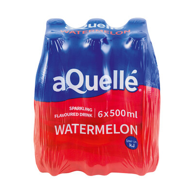 Aquelle Flavoured Water Watermelon 6x500ml