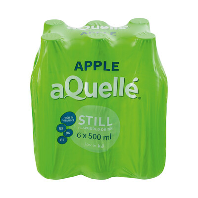 Aquelle Flavoured Water Apple 6x500ml