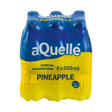 Aquelle Flavoured Water Pineapple 6x500ml