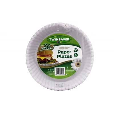 Twinsaver Paper Plates 2X Deeper 50's