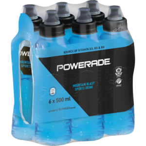 Powerade Mountain Blast Sports Drink 6x500ml
