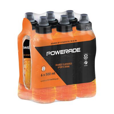 Powerade Orange Flavoured Sports Drink 6x500ml