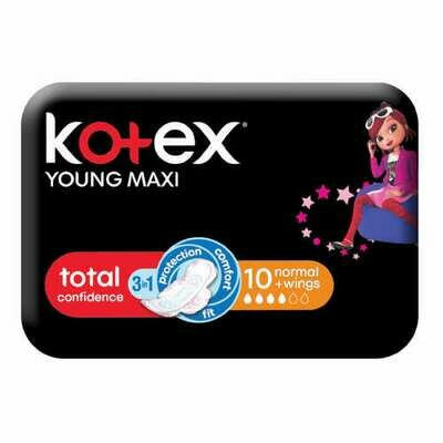 Kotex Young Maxi 10 Normal Wings Pads