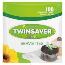 Twinsaver Serviettes 100s