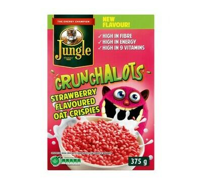 Jungle Crunchalots Strawberry Oat Crispies 375g