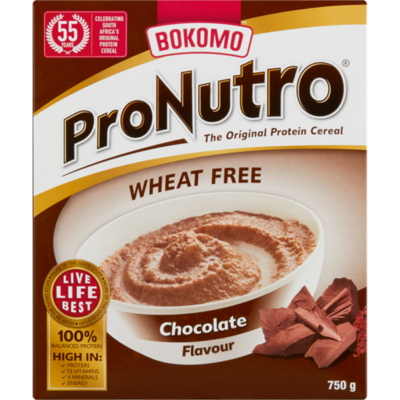 Bokomo ProNutro Chocolate Wheat free 750g