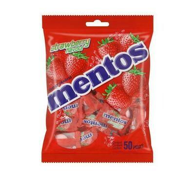 Mentos Strawberry Bag 50s