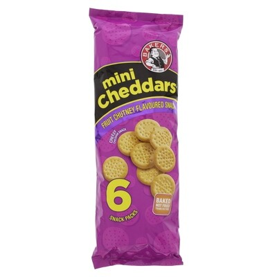 Bakers Mini Cheddars Fruit Chutney Flavoured 6 Snack Packs