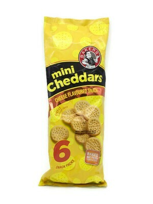 Bakers Mini Cheddars Cheese Flavoured 6 Snack Packs