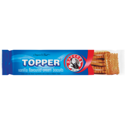 Bakers Topper Vanilla Flavoured Biscuits 125g