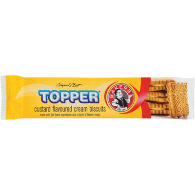 Bakers Topper Custard Flavoured Biscuits 125g