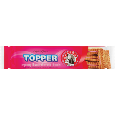 Bakers Topper Raspberry Flavoured Biscuits 125g