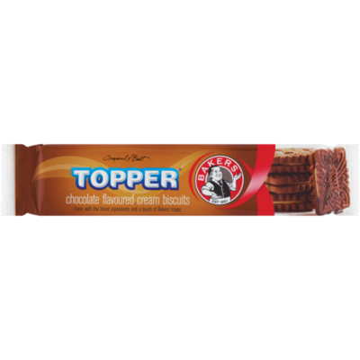 Bakers Topper Chocolate Flavoured Biscuits 125g