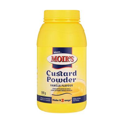 Moir's Vanilla Flavoured Custard Powder 500g Jar