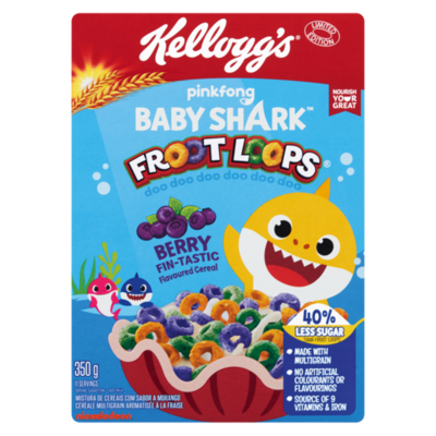 Kellogg's Berry Favour Baby Shark Froot Loops 350g