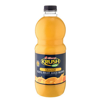 Clover Krush 100% Fruit Juice Blend Orange 1.5lt