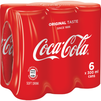 Coca Cola Can 6x300ml