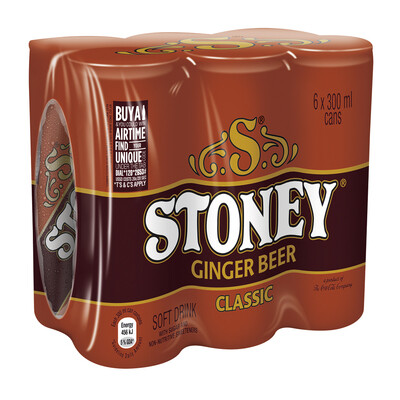 Stoney Ginger Beer Can 6x300ml