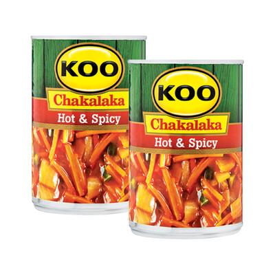 Koo Hot & Spicy Chakalaka 410g Buy 2 For
